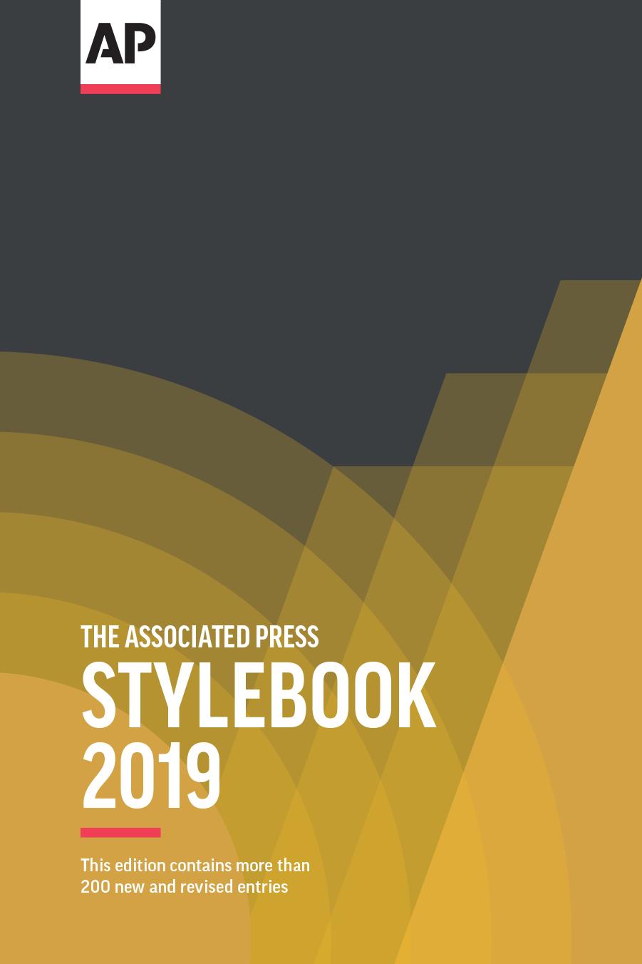 2019 AP Stylebook (print edition)