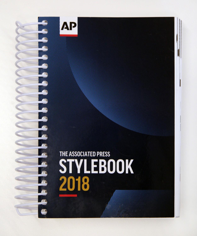 2018 AP Stylebook (print edition)